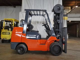 2003 Toyota 7fgcu45 10000lb Traction Cushion Forklift Lpg Lift Truck photo