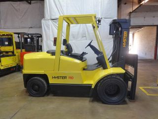 2003 Hyster H110xm 11000lb Dual Drive Pneumatic Forklift Diesel Lift Truck photo