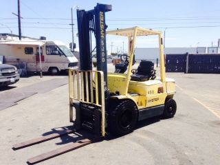 2000 Hyster Forklfit H50xm Gasoline Engine Pneumatic Tires 5000lbs photo