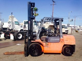 Toyota Forklift 7fdku40 9000 Lb Cap 2005 Yr Pneumatic Tires Diesel photo