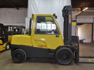2011 Hyster H120ft12000lb Pneumatic Forklift Diesel W/cab Lift Truck Hi Lo photo