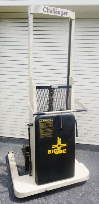 Big Joe Challenger Series Xt - A6 1000lb Capacity Electric Powered Stacker Lift photo