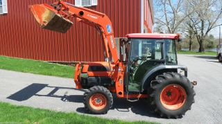 2004 Kubota L4330 4x4 Compact Tractor W/ Cab Loader 43hp Hydrostatic 1248 Hours photo