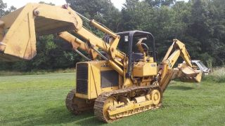 John Deere 555b Crawler /loader With Backhoe Attachment photo