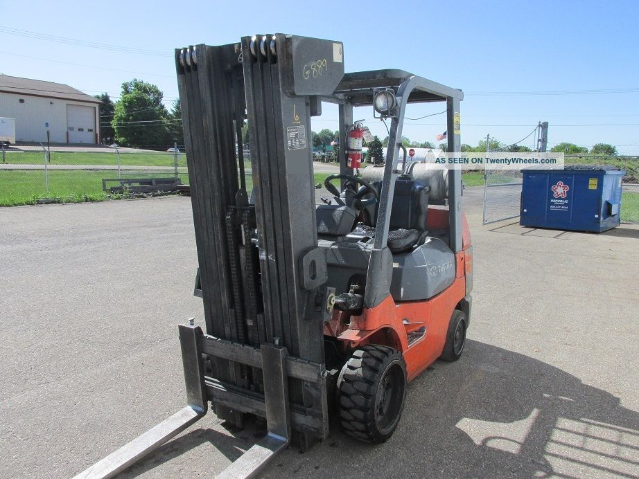 Fork Lift Foot : Toyota lbs forklift foot lift heights