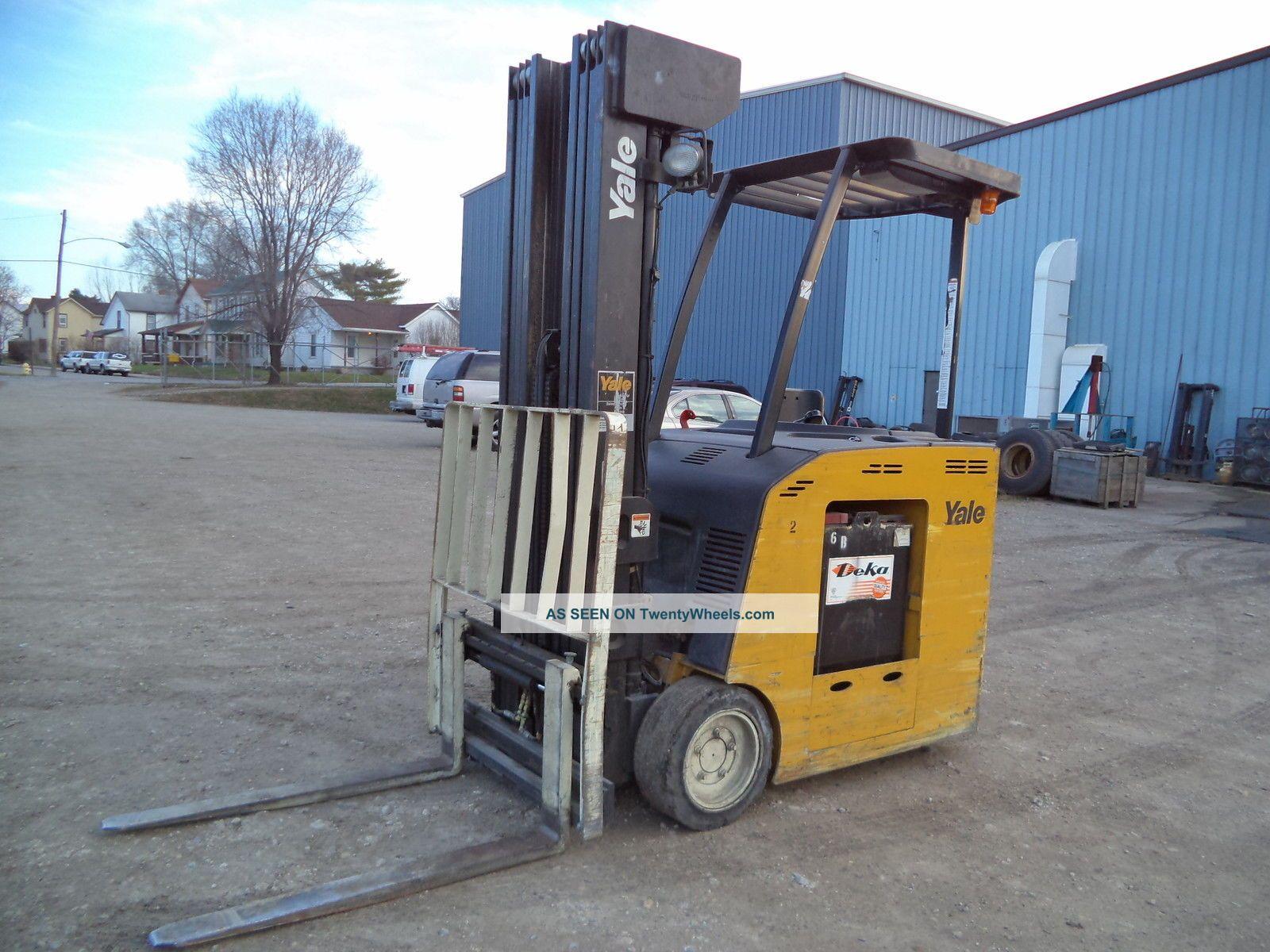 2006 Yale 4000 4 000 36v Electric Forklift Stand Up