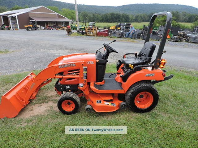 Small Tractors With Pto : Kubota bx sub compact tractor loader quot belly