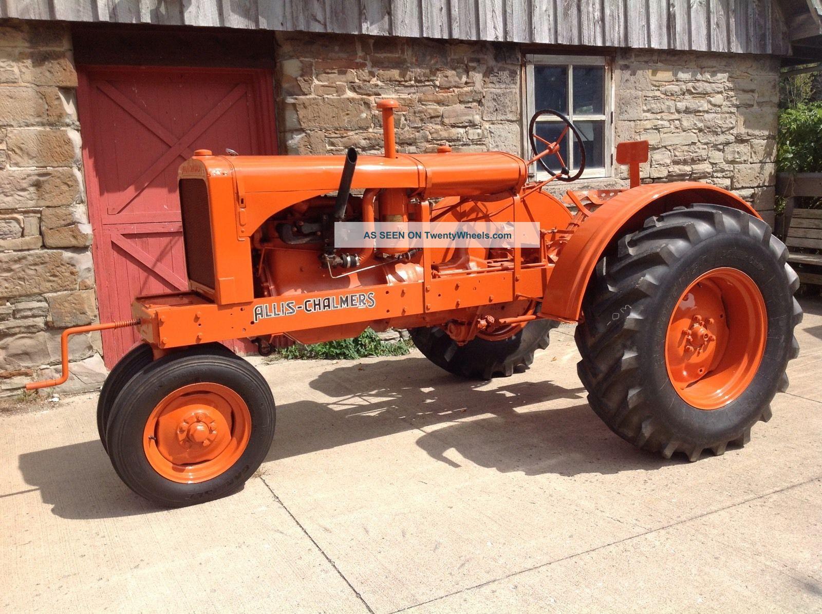 Vintage Allis Chalmers Tractors : Antique tractor allis chalmers w c
