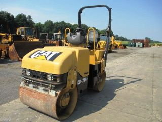 2006 Caterpillar Cb214e Smooth Drum Vibratory Roller,  Only 1073 Hours,  39