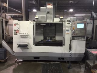 Haas Vf - 3 Cnc Vertical Machining Center Mill Ct40 4020 Vmc 4th Ready 2005 photo
