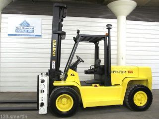 Hyster H155xl Diesel Forklift,  Dual Wheels,  Fork Pos. ,  Sideshift,  3,  470 Hours photo