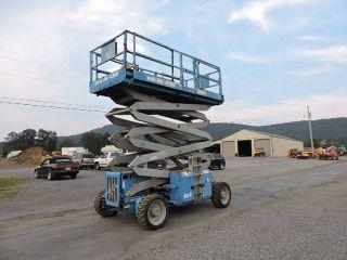 2001 Genie Gs4390 Rt Rough Terrain Scissor Man Lift Boom Lift 4x4 49 ' Height Jlg photo