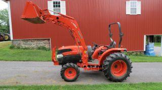 2007 Kubota L3940 4x4 Compact Utility Tractor W/ Loader Hydrostatic 1150 Hours photo