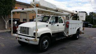 20000000 Chevrolet Dual 60 Foot Bucket Truck Runs And Drives Like photo