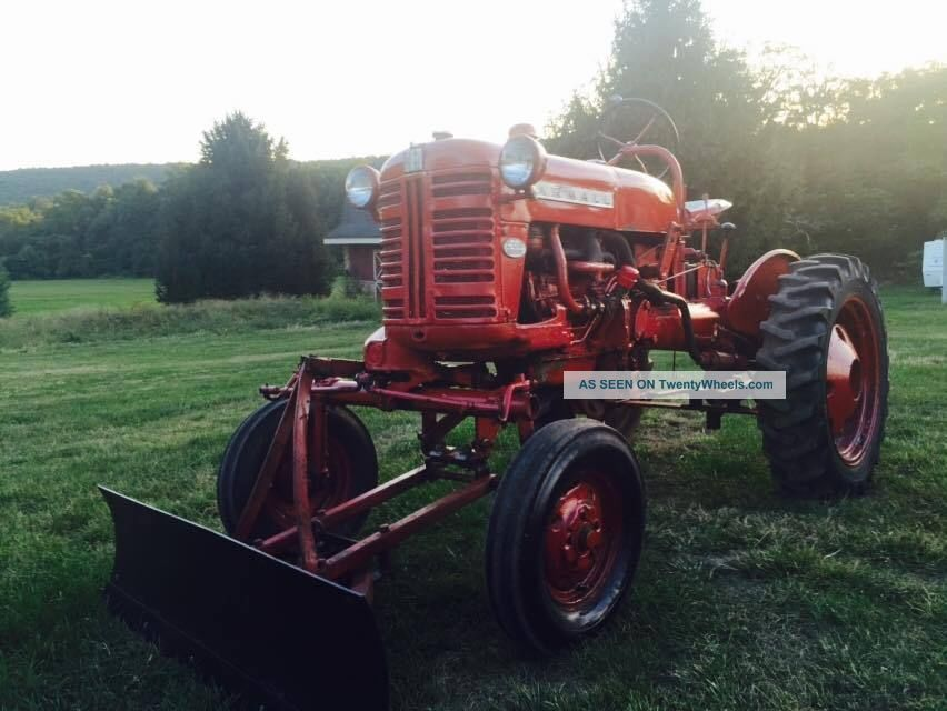 Farmall Tractor With Loader : Farmall cub ih front blade bucket dozer loader tractor