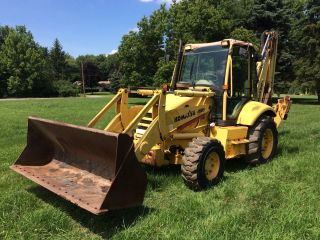 Komatsu Wb140 - 2 4wd Tractor Loader Backhoe Erops photo