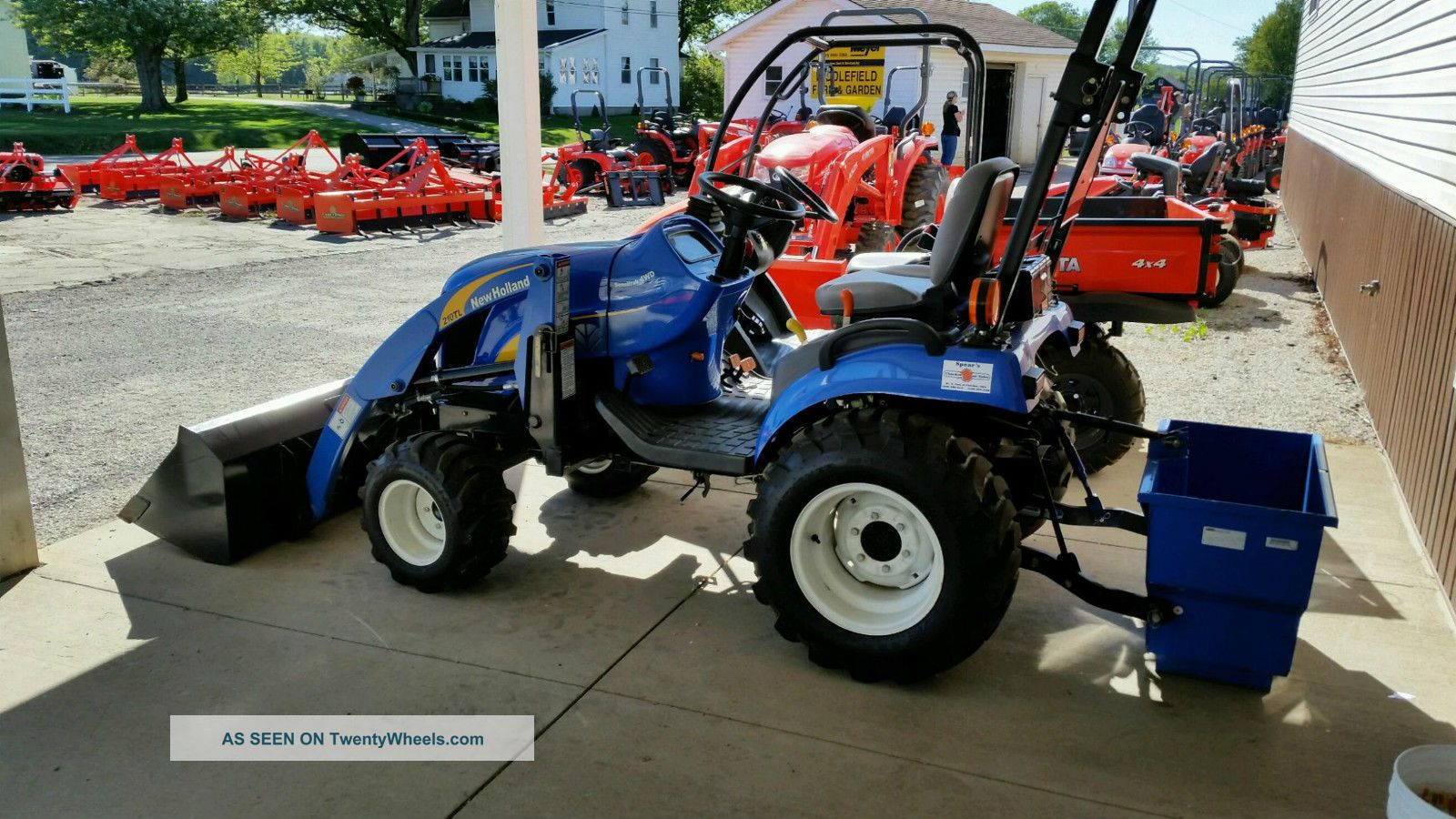 Tractor Ballast Box : Holland t tractor with loader and ballast box