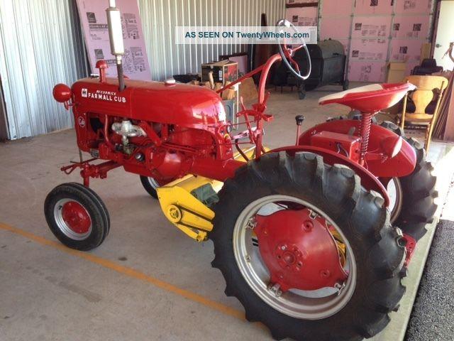 1948 Farmall Cub : Farmall cub tractor