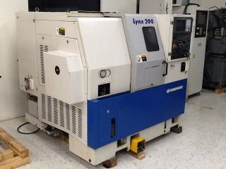 Daewoo Lynx 200 Cnc Turning Center Lathe Fanuc 21 - T 6