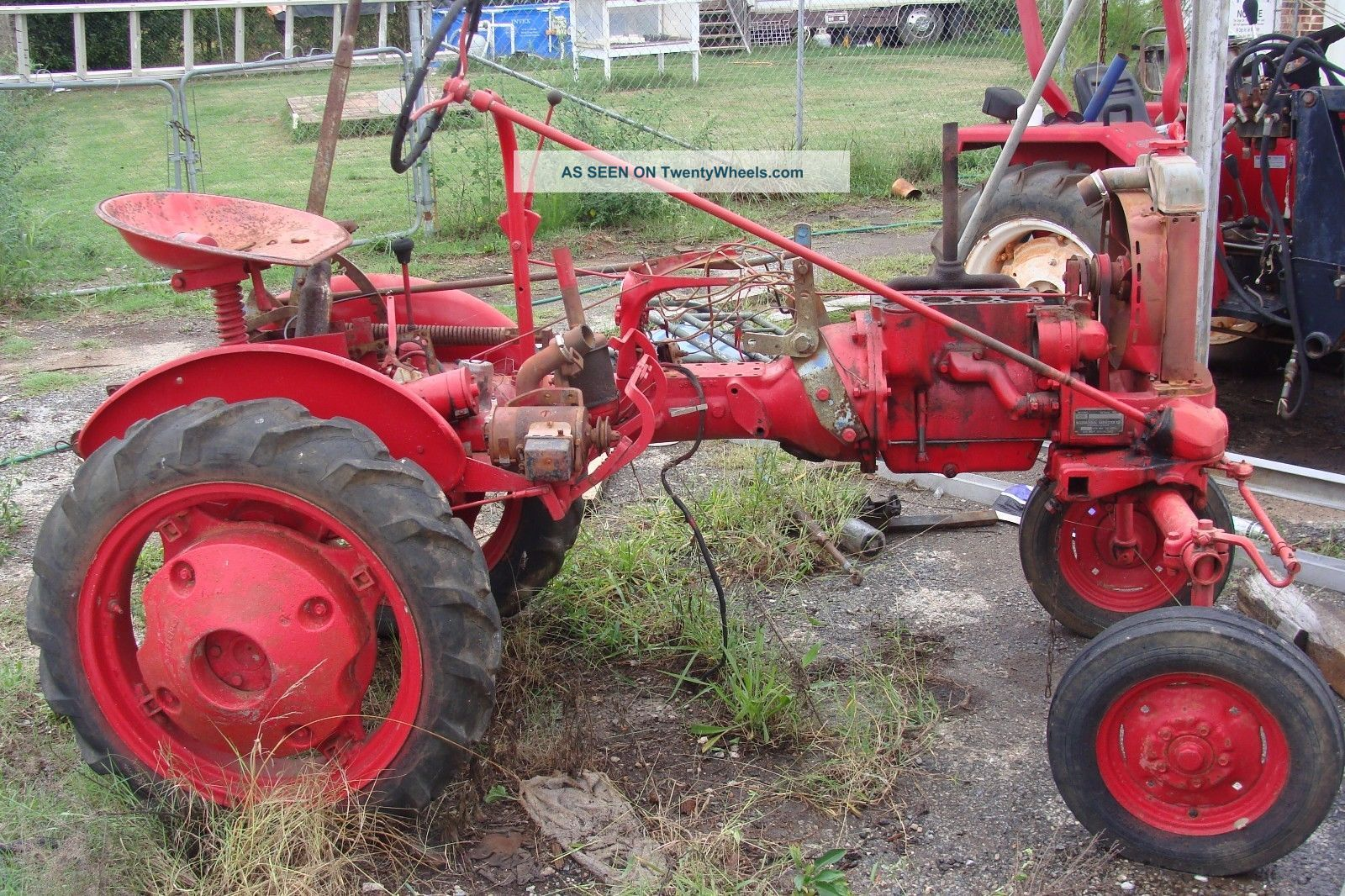 Farmall Tractor Plows : Farmall cub pair two cubs with pallet of plows