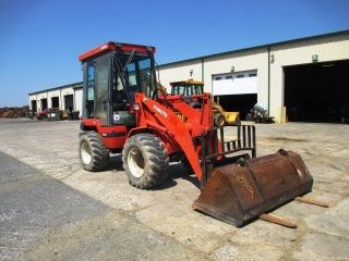 2006 Kubota R520 Wheel Loader,  Cab,  Bucket & Forks,  4429 Hours photo