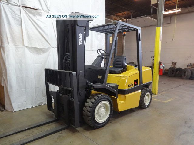 2003 Yale Gdp080 8000lb Solid Pneumatic Forklift Diesel