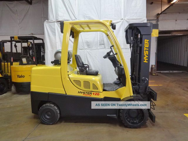 2011 Hyster S120ft 12000lb Cushion Forklift Lpg Lift Truck