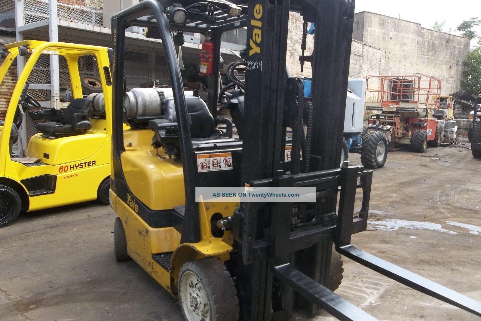 2006 Yale 5000 Lb Forklift Side Shift Triple Mast 83 180