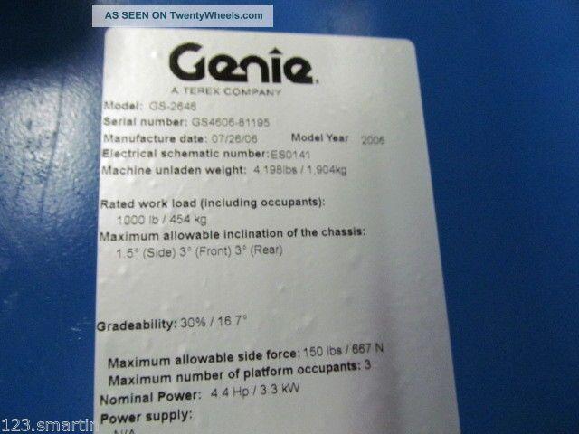 genie boom lift service manual