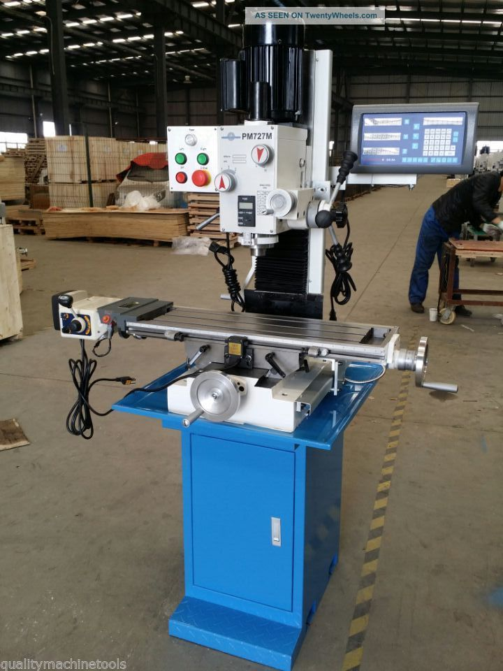 Pm 727m 7x27 Quot Vertical Bench Top Milling Machine 3