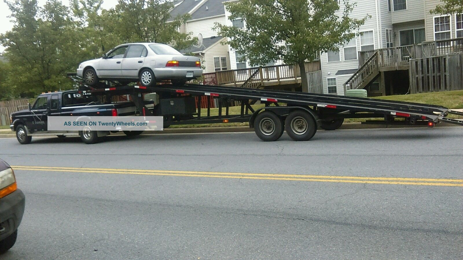 Kaufman Wedge Trailer 2 3 Car Hauler With Ford F350