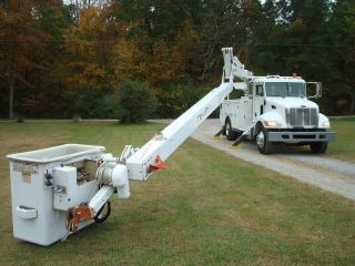 2007 Peterbilt 60 ' Lift All Material Hand Over Center C - 7500 Bucket Truck Single Man C7 Cat Diesel photo