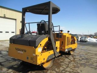 2010 Volvo Dd90hf Smooth Double Drum Roller Compactor,  Only 629 Hrs,  Excellent photo