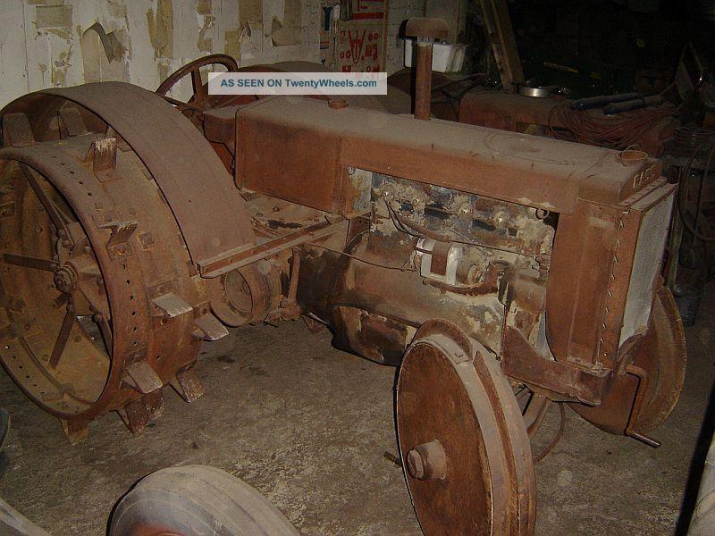 Antique Tractor Steel Wheels : Antique ji case co tractor on full steel wheels all