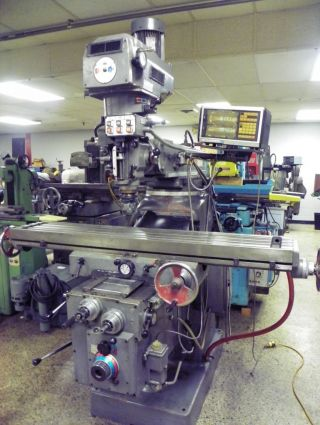 Lagun Model Ftv - 4 Heavy Duty Mechanical Power Feed Vertical Mill photo