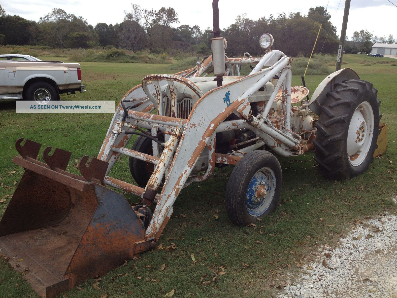 1956 Ford 640 Tractor Fenders : Or ford model tractor with loader and box plow