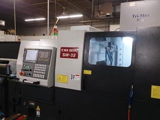2014 Yama Seiki Sw32 Swiss Cnc Lathe W Tracer Bar Loader Fanuc Live Tools photo