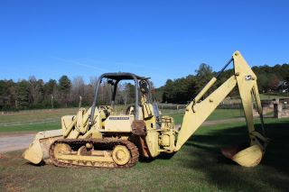 John Deere 450ba Diesel Crawler Track Loader With Back Hoe Excavator 450 Erops photo