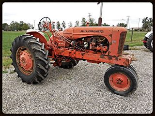 1954 Allis Chalmers Wd45 W/plow Antique Vintage Tractor Wms photo
