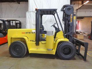 2005 Hyster H155xl2 15500lb Dual Drive Pneumatic Forklift Lpg Lift Truck Hi Lo photo