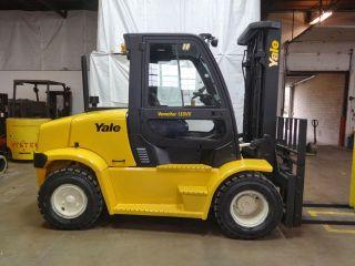 2008 Yale Gdp155vx 15500lb Pneumatic Forklift Diesel Lift Truck Hi Lo Cab W/heat photo