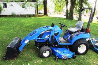 2006 Holland Tz25da Compact Tractor W/ Loader & Belly Mower.  Good Machine photo