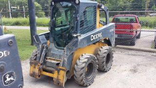 2010 John Deere Skid Steer 320d,  Bucket,  Forks,  Solid Tires.  Local Pickup Only photo