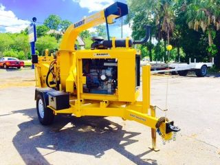2006 Yellow Bandit 200xp Disc Wood Chipper With Winch photo