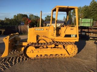 1988 Cat D4c Dozer With Hd Brush Rake photo
