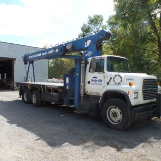 1996 Ford Ltn 8000 W/manitex 2592 Boom Crane photo