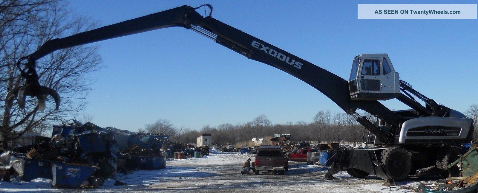 Exodus Mx 447 Material Handler Crane Orange Peal