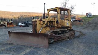 1984 Caterpillar D5b Dozer Crawler Tractor Diesel Engine W/ Winch Cat Hydraulics photo