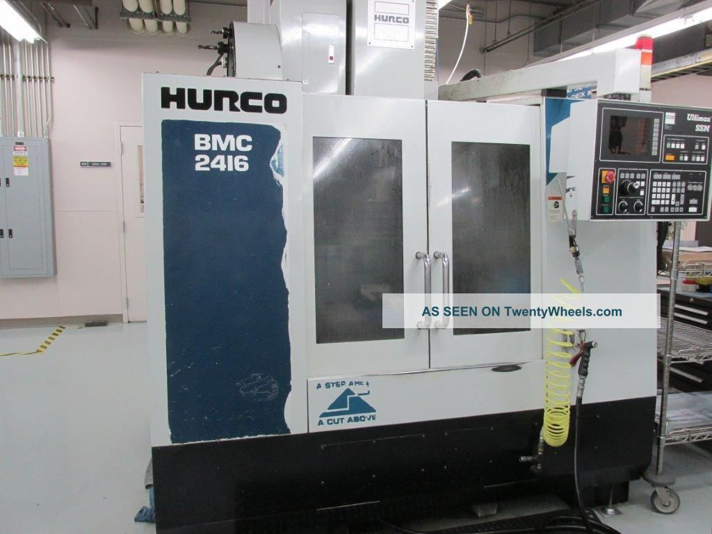 Hurco Bmc - 2416 Cnc Vertical Machining Center Milling Machines photo