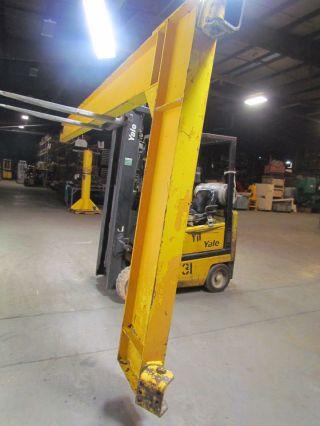 1 Ton 20 ' Wall Mount Cantilever Jib Crane 5 - 5/8